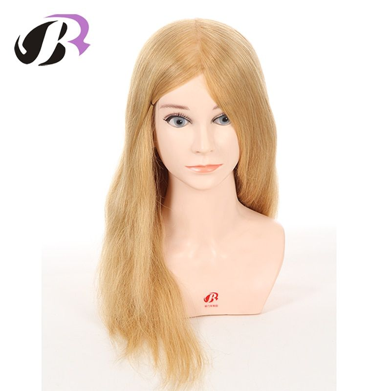 New Product Professional Stlye Mannequin Training Head For Hairdressing Training With 100 Human Hair Dummy Head