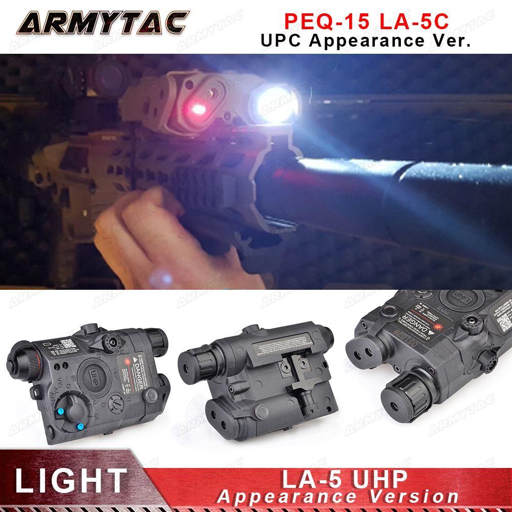 Airsoft LA-5 UHP Batterie Fall PEQ LED Taschenlampe Rot Laser IR Laser SF LA5 Rot laser taktische licht aussehen Version Jagd