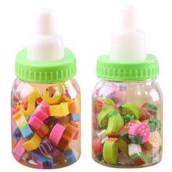 Mini Kawaii Bouteille En Caoutchouc Crayon Gommes Bureau Papeterie Fruits Nombre En Forme de Gomme pour Les Étudiants Enfants Article Créative Cadeaux