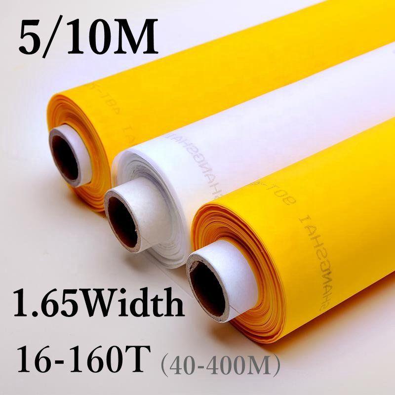 5/10 Meter 165 CM Breite 40-400 M Siebdruck Mesh 16 T-160 T Weiß Polyester siebdruck Mesh Stoff Werkzeuge Filter Net