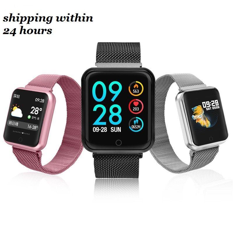 P68 montre intelligente hommes femmes 2019 tension artérielle oxygène moniteur de fréquence cardiaque sport Tracker Smartwatch IP68 connecter IOS Android