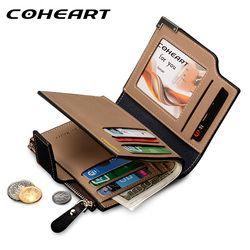 COHEART Brand Wallet Men Leather Men Wallets Purse Top Quality male clutch leather wallet man money bag quality guarantee !!