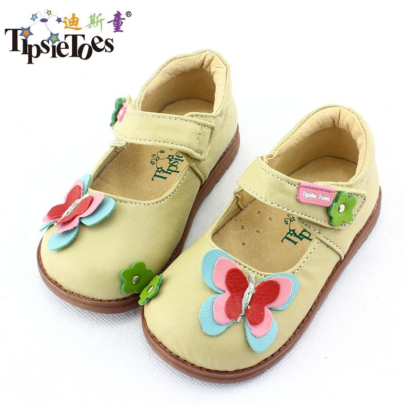 TipsieToes Brand Butterfly Sheepskin Leather Kids Children Sneakers Shoes For Girls Princess New 2018 Autumn Spring 62106