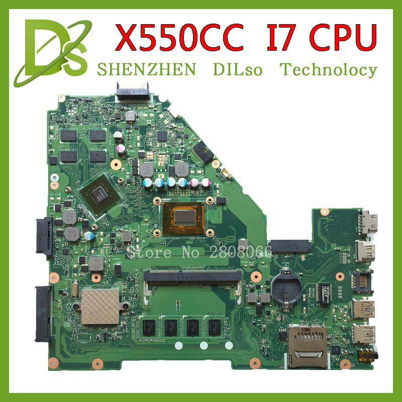 KEFU X550CC For ASUS X550CC X550CL Laptop motherboard Y581C mainboard REV2.0 with graphics card i7 cpu freeshipping 100% tested