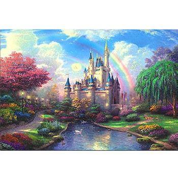 Dream Castle Fluorescent paper puzzle 1000 pieces Noctilucent jigsaw puzzles 1000 for adult kids' best 1000 piece jigsaw puzzles
