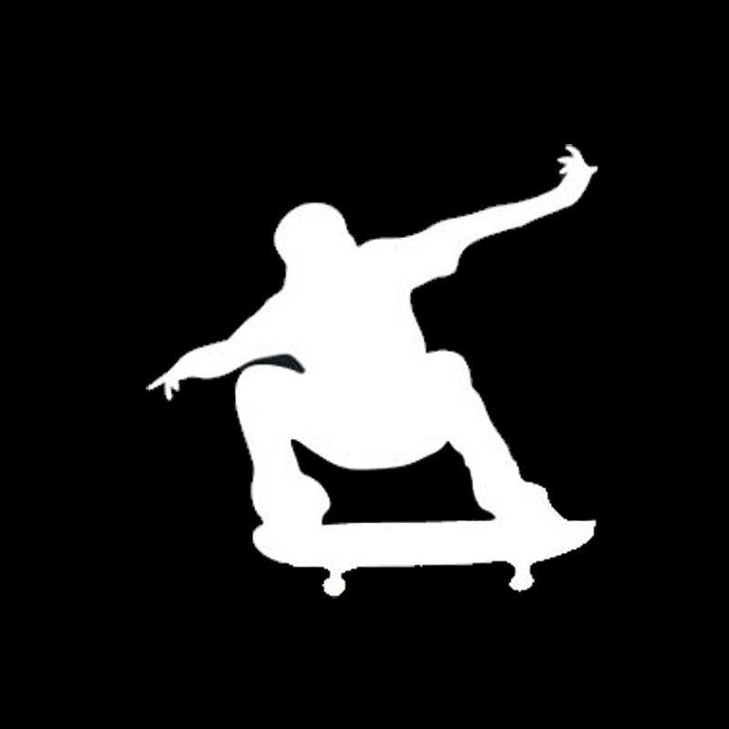 13.2*13.2CM Cartoon Jumping Skateboarding Decals Stunt Silhouettes Vinyl Car Stickers