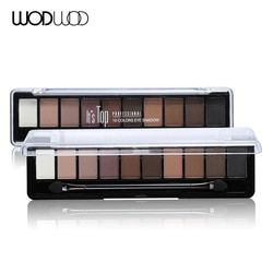Profesional Makeup Merek Warna Bumi 10 Warna Eyeshadow Palet Glitter Eye Palette Maquiagem Matte Halus Pigmen Eye Shadow