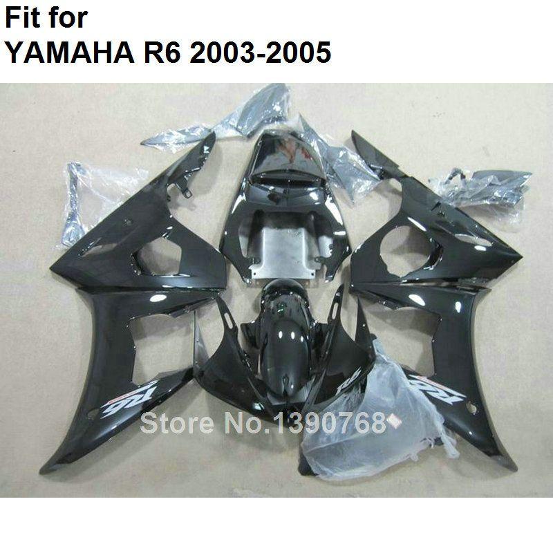 Neue heiße motorrad teile für Yamaha verkleidungen YZF R6 2003 2004 2005 schwarz body kit verkleidungen YZFR6 03 04 05 BC89