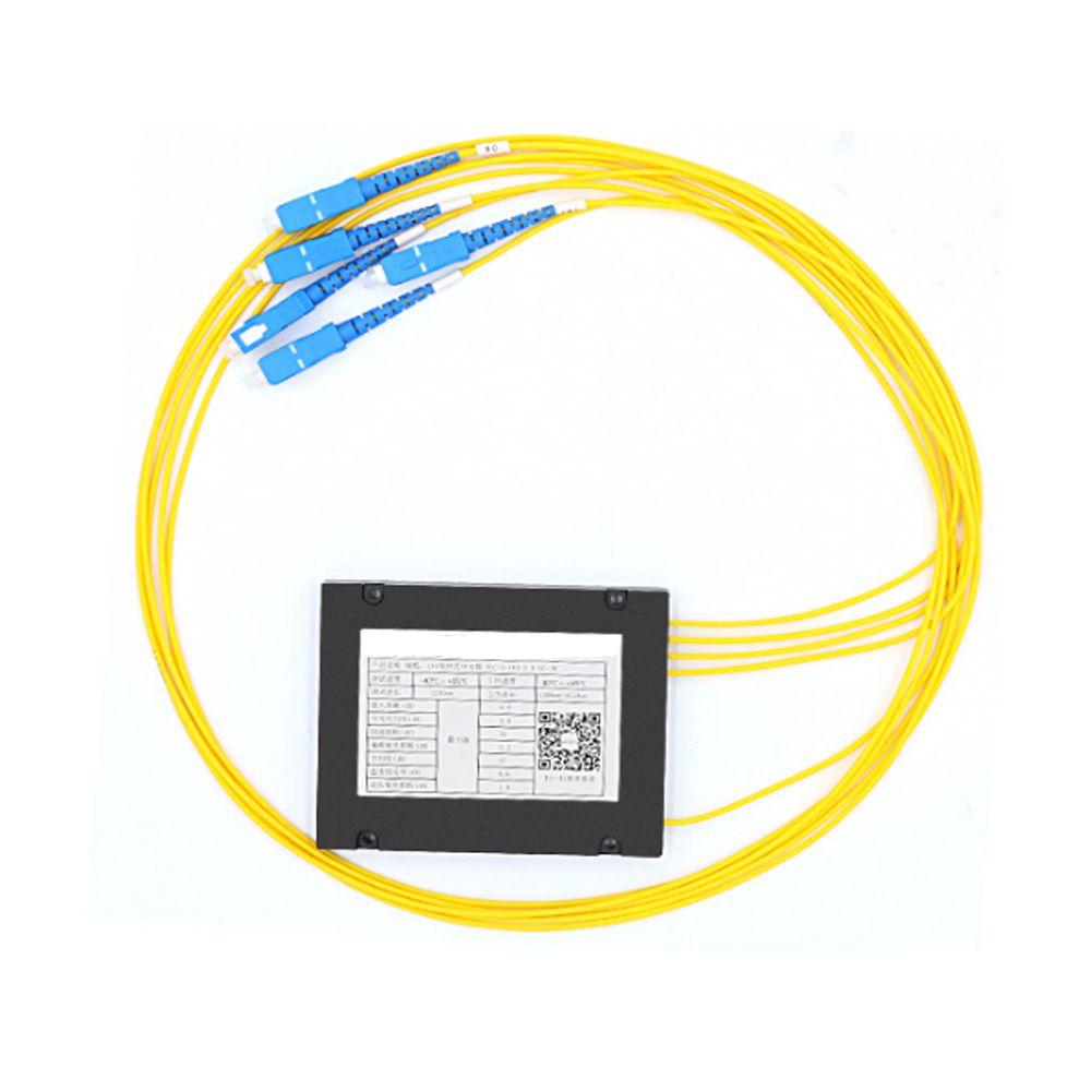 SC/UPC 1x4 FBT Lwl-splitter 1310/1550nm Singlemode, PLC Eilermodul SM 1 Mt, hohe Zuverlässigkeit