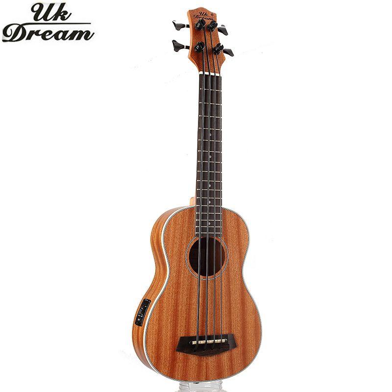 Guitarra Electrica guitare en bois Instruments de musique 30 pouces Sapele complet Vintage rétro bouton fermé ukulélé petite guitare 4 UB-113