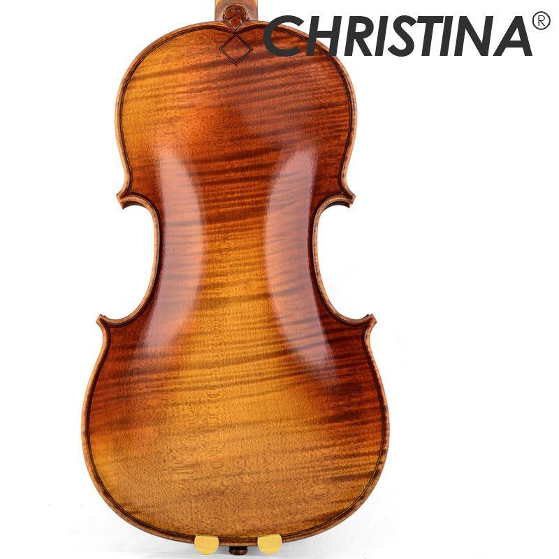 Freies verschiffen Christina hand-made V10 Master violine 4/4 Schlange holz High-end-Antike berufs violine musical instrument