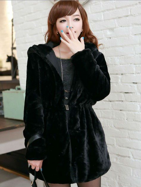 2018 Autumn & Winter New Women Coats Faux Fur Outerwear Reversible Hooded Long Sleeve Think Parkas Plush overcoats