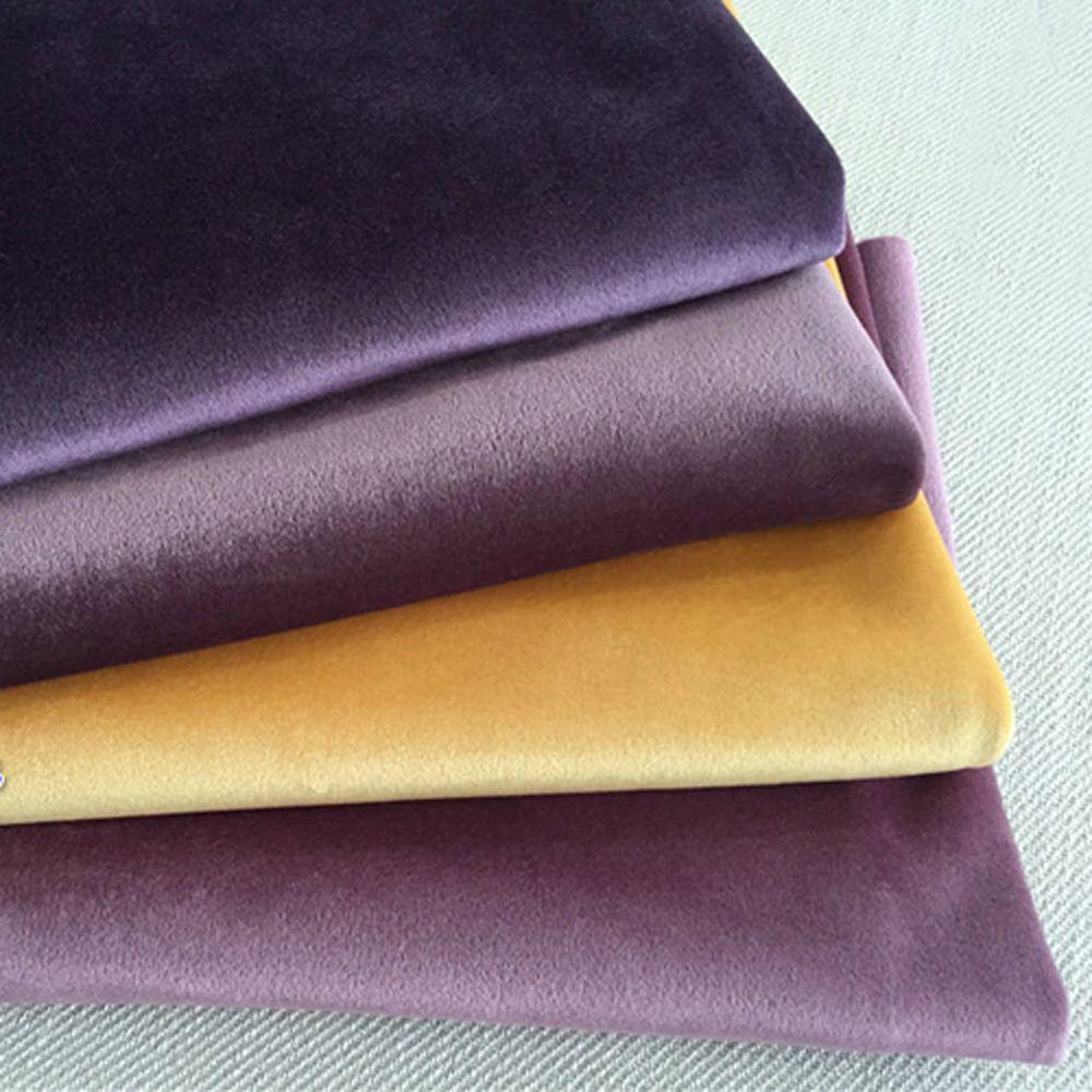 ESSIE HOME 280 CM tissu velours de soie tissu velours Pleuche nappe housse de Table tissu d'ameublement rideau rouge bleu marron vert