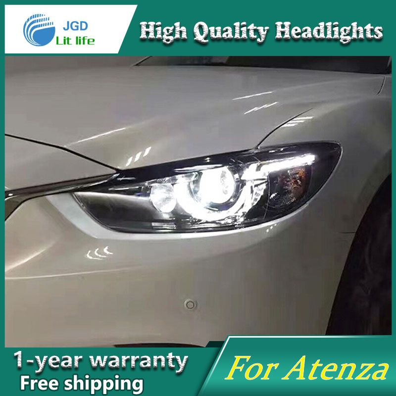 high quality Car Styling for Mazda Atenza Mazda6 Headlights LED Headlight DRL Lens Double Beam HID Xenon Car Accessories