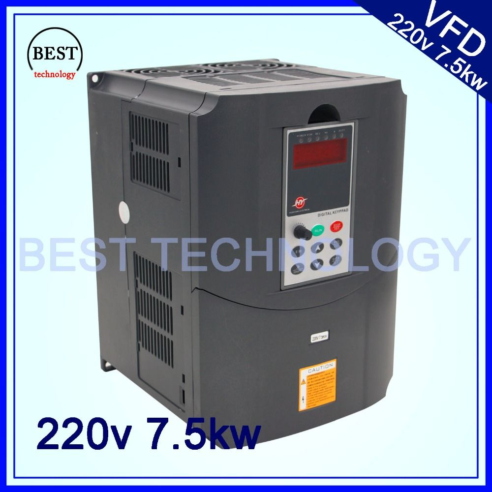 220v 7.5kw VFD Variable Frequency Drive Inverter / VFD1HP or 3HP Input 3HP Output CNC spindle Driver spindle speed control