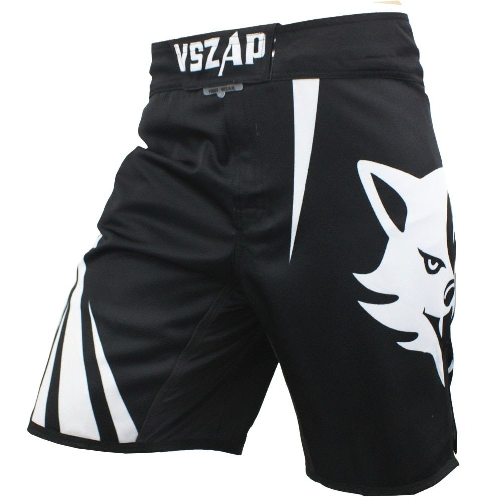 VSZAP <font><b>Pantalon</b></font> MMA Fight Boxing Shorts Motion Clothing Cotton Loose Size Training Kickboxing Shorts Muay Thai Mens MMA Shorts