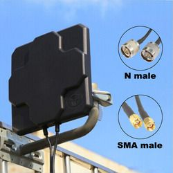 2*22dBi Outdoor 4G LTE MIMO Antenna Dual Polarization Panel Directional External Antenne For Wirness N male SMA Male 20cm Cable