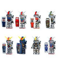 Kualitas Tinggi Mobile Suit Gundam Mini Figure Mainan Blok Bangunan Kompatibel dengan Legoinglys Mainan untuk Anak-anak Action Figure ABS 4 CM