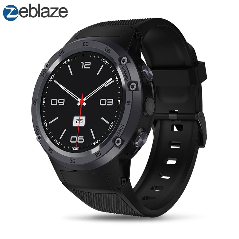 New Zeblaze THOR 4 Flagship 4G LTE SmartWatch Android 7.0 MTK6737 Quad Core 1GB+16GB 5.0MP 580mAh 4G/3G/2G GPS Smat Watch Men