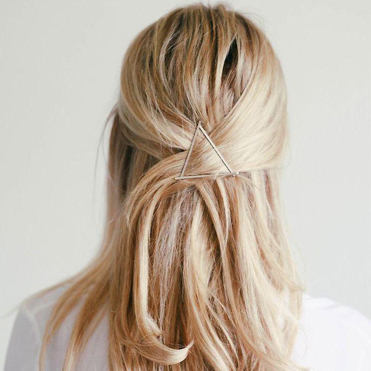 Women Girls Fashion Hairpins Hollow Triangle Hair Clip Barrette Wedding Party Hair Accessories