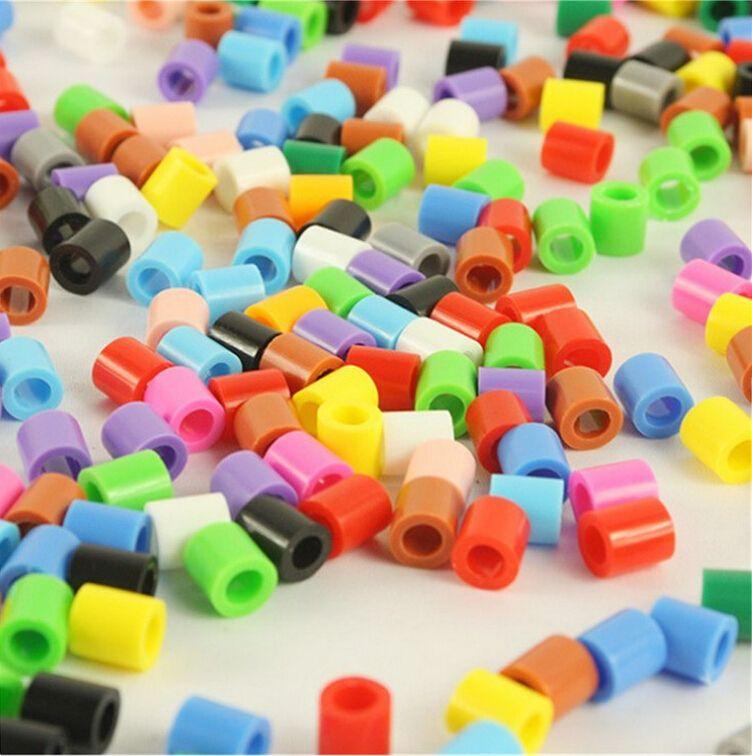 Großhandel 10000 teile/los Gemischte farbe 5 MM HOCHWERTIGEM hama perlen diy spielzeug foodgrade hama sicherung perlen Puzzles PUPUKOU
