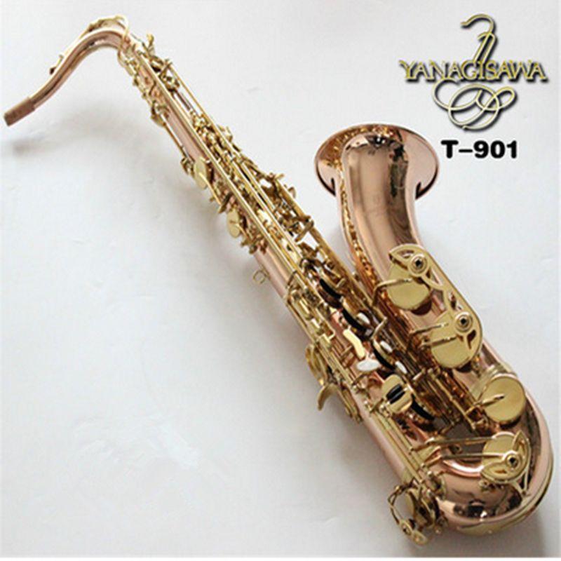 Japanese Yanagawa Tenor T-901 Yanagisawa professional support gold tenor saxophone alto sax leather case