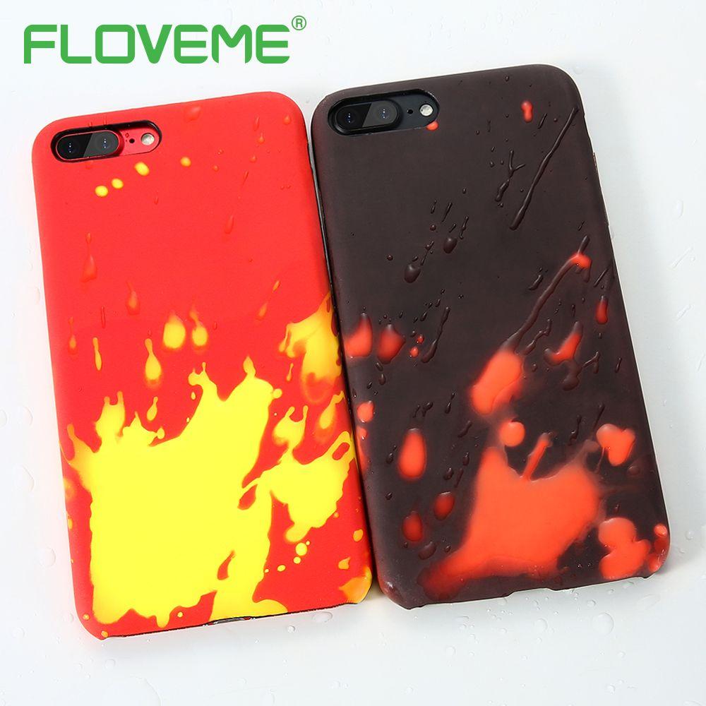 FLOVEME Thermische Verfärbung Schutzmaßnahmen Zurück Fall Für iPhone X Weiche silikon Abdeckung Für iPhone 6 6 S 7 7 Plus Telefon zubehör