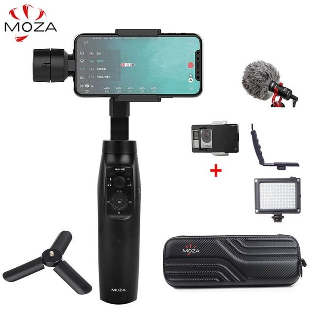 MOZA Mini Mi Mini-Mi 3-Axis Handheld Gimbal Stabilizer for iPhone 8 Plus Samsung S9 Gopro PK Zhiyun Smooth 4 DJI Osmo mobile 2