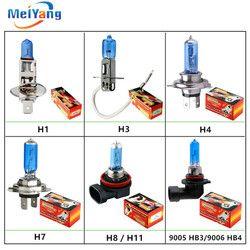 Super Weiß halogen lampe H1 H3 H4 H7 H8 H11 9005 HB3 9006 HB4 12 V 55 W 100 W LED Auto Scheinwerfer Lampe