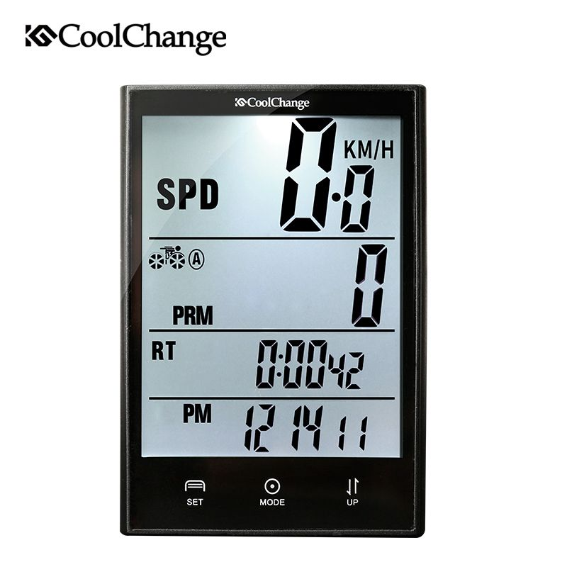 CoolChange Wireless Bike Computer Speedometer Odometer Rainproof Cycling Bicycle Computer Bike <font><b>Measurable</b></font> Temperature Stopwatch