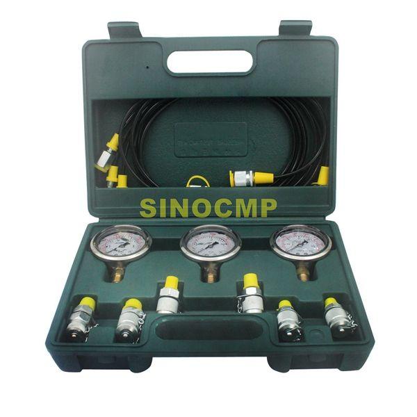 Excavator Hydraulic Pressure Test Kit, Hydraulic Pressure Gauge, Pressure Test Gauge Coupling, 2 year warranty