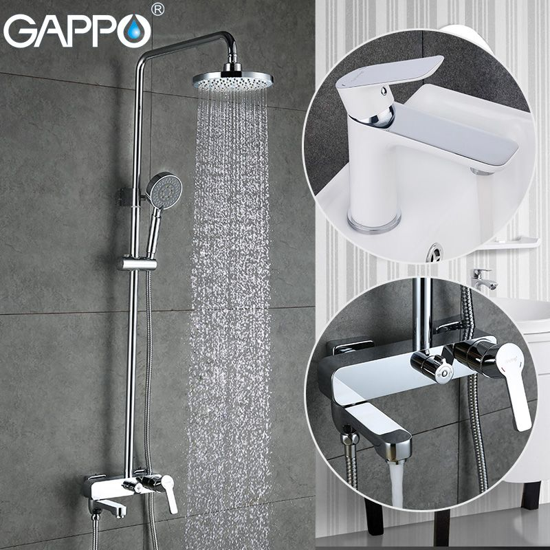 GAPPO shower faucet bathroom basin mixer tap waterfall faucet bath shower head brass rain shower set