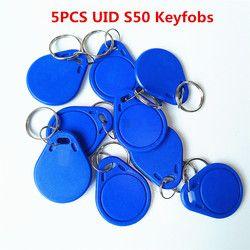 5 шт./лот 13,5 мГц UID Сменные MF S50 1 К IC ключи брелков Маркер Теги S50 NFC клон Копировать задняя дверь перезаписываемый Бланк магия карты