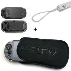 3 in 1 Screen Protector + Soft Bag PSVITA Case Shell Protector for Sony PSV Console Sponge Bag Game PS Vita 1000 2000 Slim Case
