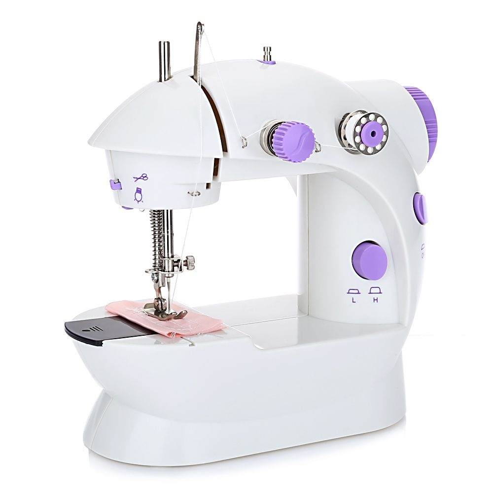 New Mini Handheld Sewing Machines Dual <font><b>Speed</b></font> Double Thread Multifunction EU Electric Mini Automatic Tread Rewind Sewing Machine