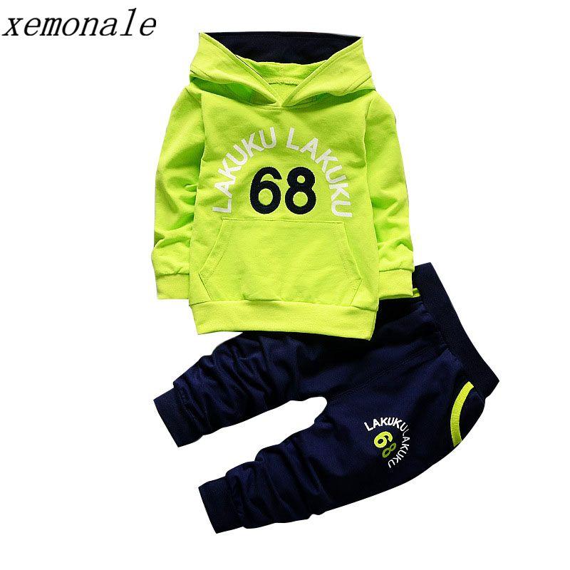 Спортивный костюм для маленьких детей осень Одежда для малышей Наборы для ухода за кожей для мальчиков Модная одежда для девочек брендовая ...