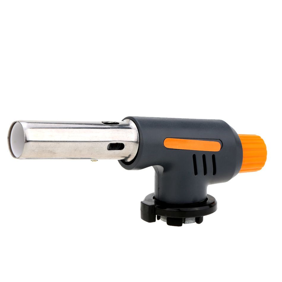 Portable Gas Torch Flamethrower Butane Burner Auto Ignition Baking Welding BBQ Camping Outdoor Heating BBQ Cooking