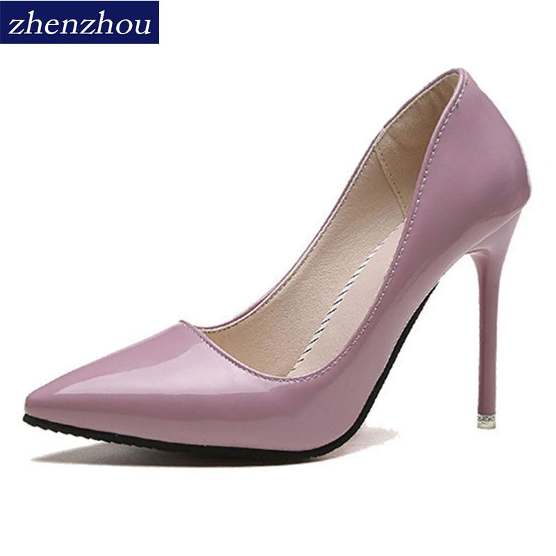 zhenzhou Free shipping Pumps 2017 spring and autumn new nude color pointed women's shoes are sexy and high heels Fine with