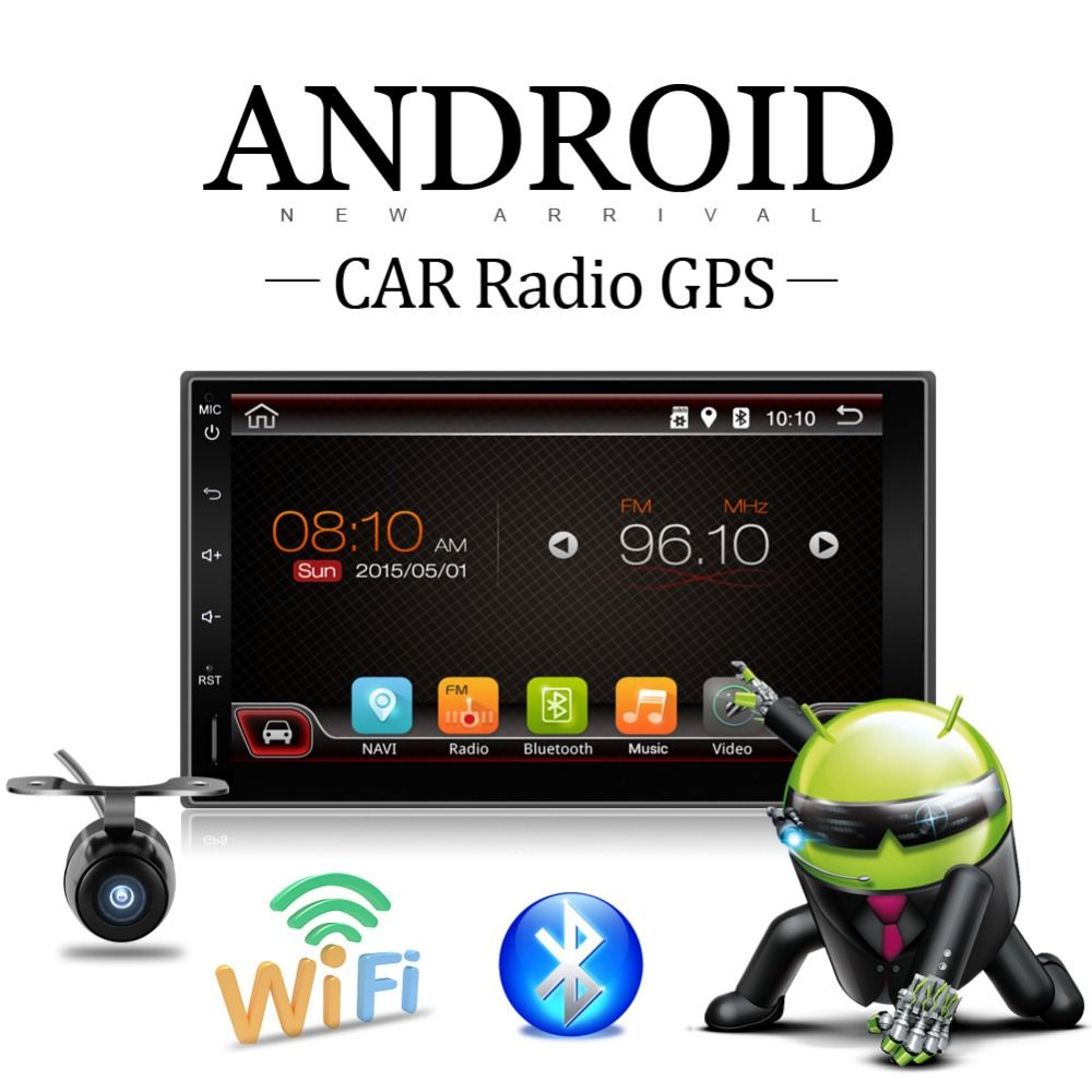 2 Din Android 7.1 Full-Touch Car PC Tablet double 2din Audio 7'' GPS Navi Car Stereo Radio No-DVD mp3 Player Bluetooth vw