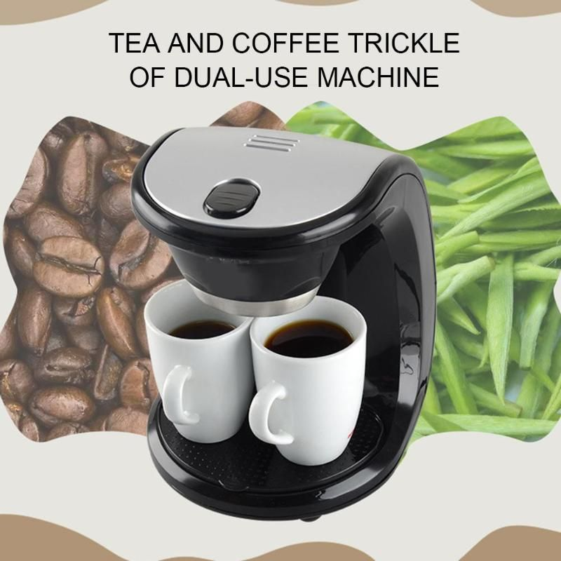 500W 2 Cups Drip Coffee Machine Electric Espresso Coffee Maker for Home Cafe Bar Coffee Pot Automatic Coffee Maker