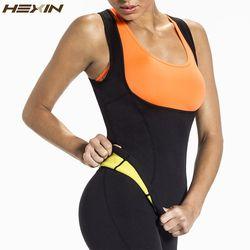Hexin más tamaño neopreno sudor sauna caliente Cuerpo Shapers chaleco cintura Trainer adelgazar chaleco shapewear pérdida de peso cintura corsé