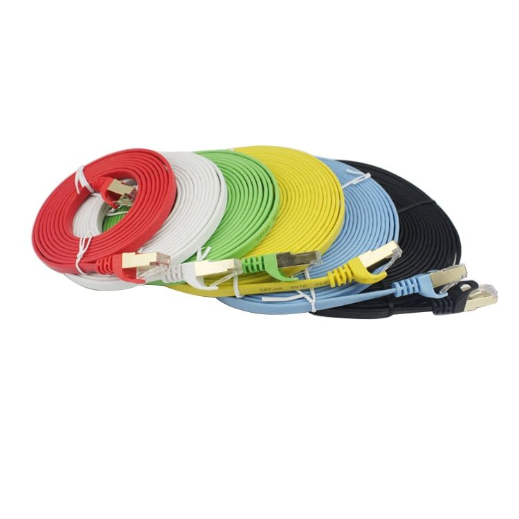3M(9FEET) High Speed CAT6A SSTP RED FLAT LAN Cable Ethernet Cables Network Wire RJ45 Patch Cord Cheap Price Made In China