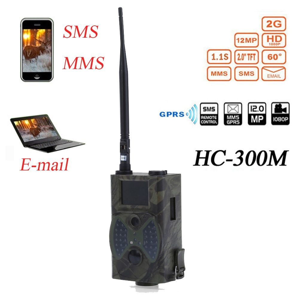 Outlife HC300M Hunting Trail Camera HC-300M 940NM 12MP 1080P Video Night Vision MMS GPRS Scouting Infrared Game Hunter Camera
