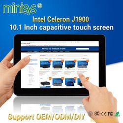 Minisys Rugged Industrial Tablet PC Intel J1900 1 Lan Desktop All in one Computer 10.1'' Capacitive Touch Screen For Windows 10