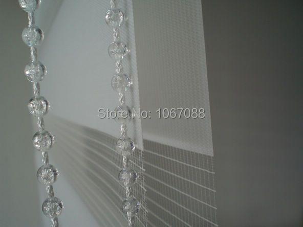 100% полиэстер полупрозрачные ролик Зебра жалюзи в белый окна шторы для гостиной Декор