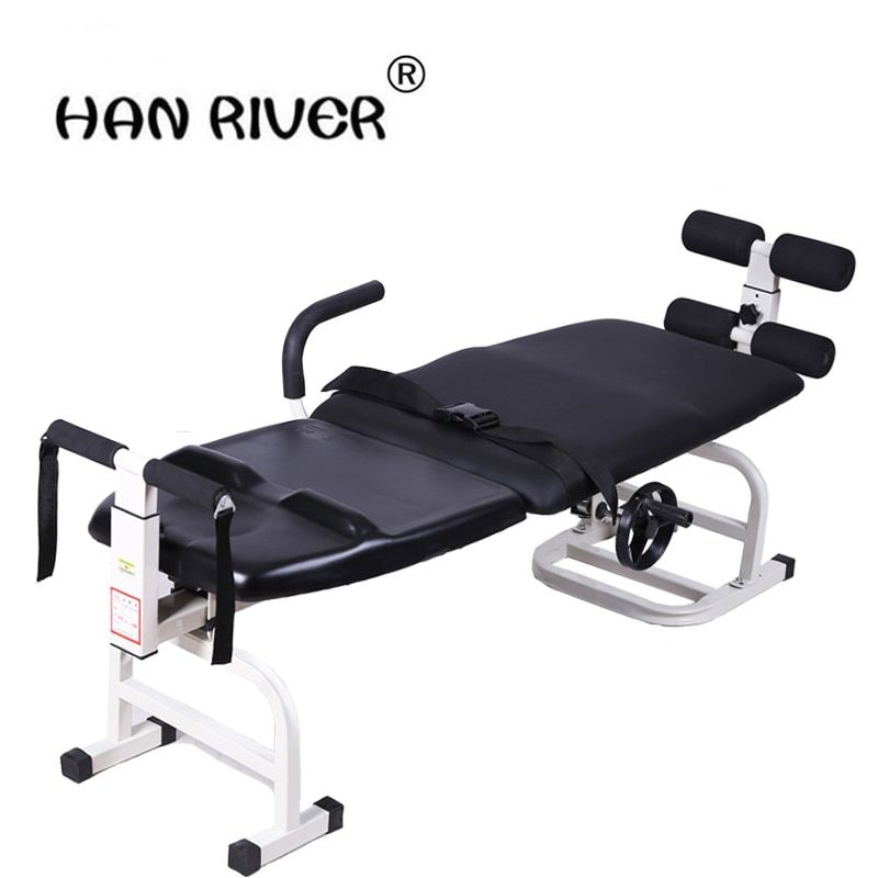 Ease back pain with lumbar tractor neck lumbar traction bed body protruding stretcher Spine Support Belt Bandage Leg Corrector