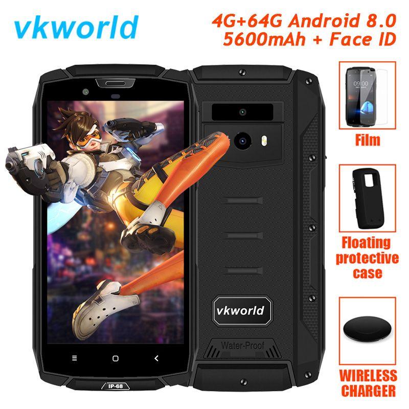 Original Vkworld VK7000 4G LTE Rugged Waterproof Shockproof Phone Android 8.0 Oreo Octa Core 4GB+64GB Smartphone IP68 5600mAh