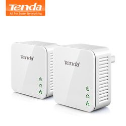 1 Paire Tenda P202 Mini 200 Mbps PowerLine ethernet adaptateur, PLC adaptateur, sans fil WIFI Partenaire, IPTV, Homeplug AV, Plug And Play