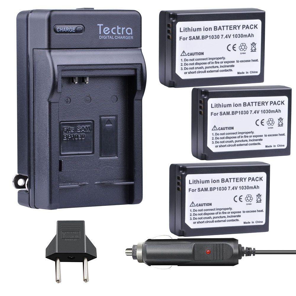 3 stücke BP1030 BP 1030 BP-1030 Batterie + Auto Ladegerät für Samsung NX1100 NX-300M NX300 NX500 NX1000 NX200 NX210 Batterien 1x EU stecker