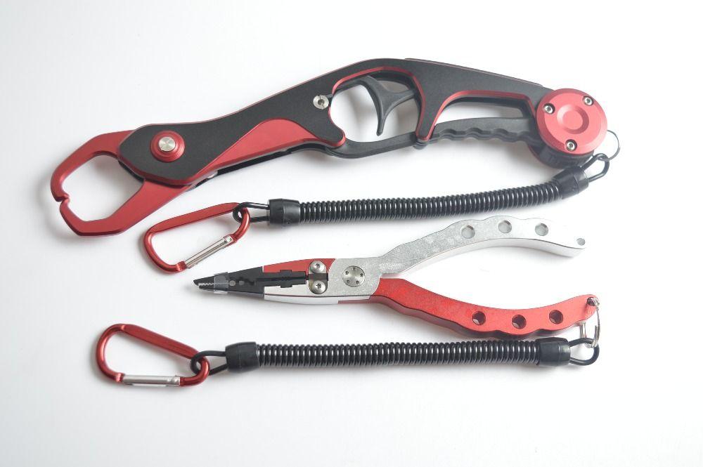 Fishing Tool Set Fishing Grip Gripper & Line Cutters Fishing Pliers with Bag Multifunctional Aluminium Fishing Equipment